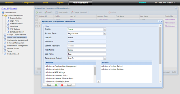 How to create Admin User in Firewall - Help Desk Software by Vision